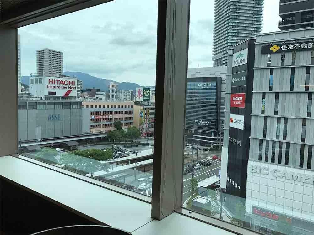 変化と改革の中にある広島駅南口を眼下に