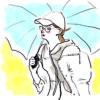 イラスト・クルーエルの表紙の傘をさす少女がモチーフ