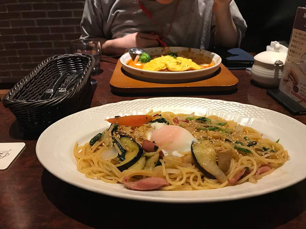 【星乃珈琲店】で夕食*悩んだ末和風パスタに!