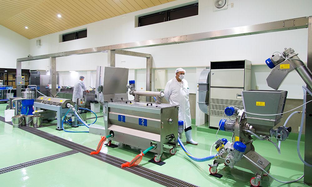 江田島オリーブファクトリー*イタリア製搾油機