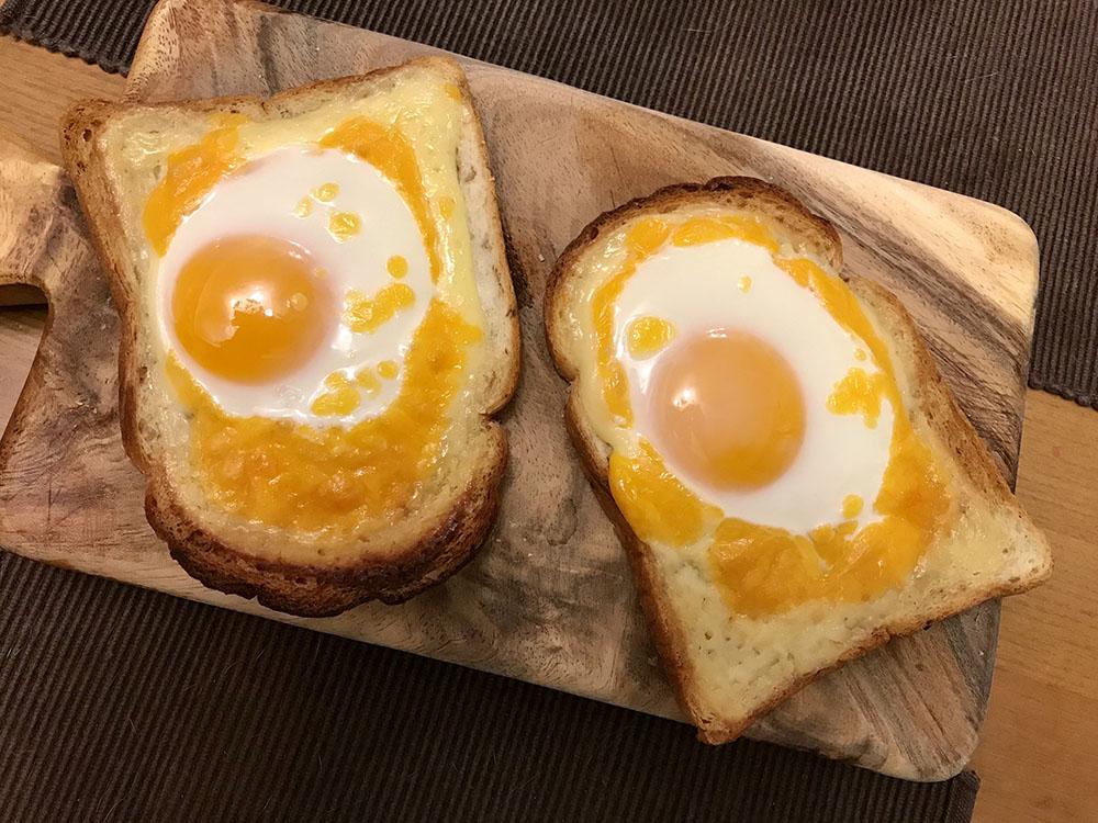 【こがしマヨたまトースト】卵とチーズのコンビもGOOD!