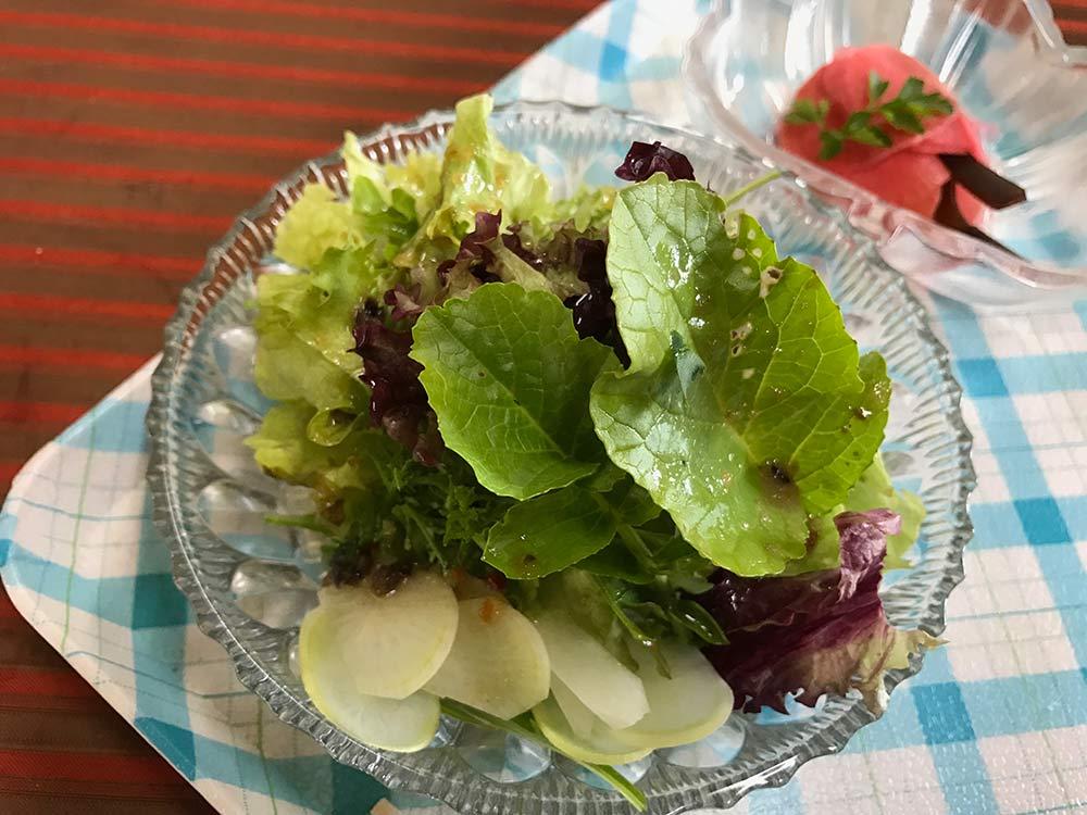 グリーンサラダ*虫食いの跡は安全な証拠!